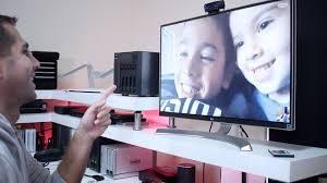 Wie kann ich von meinem Fernseher aus Videoanrufe führen